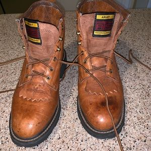 Ariat lace up leather boots